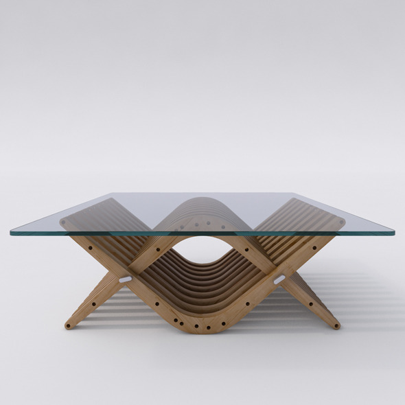Wooden Low Table 31 BOOMERANG