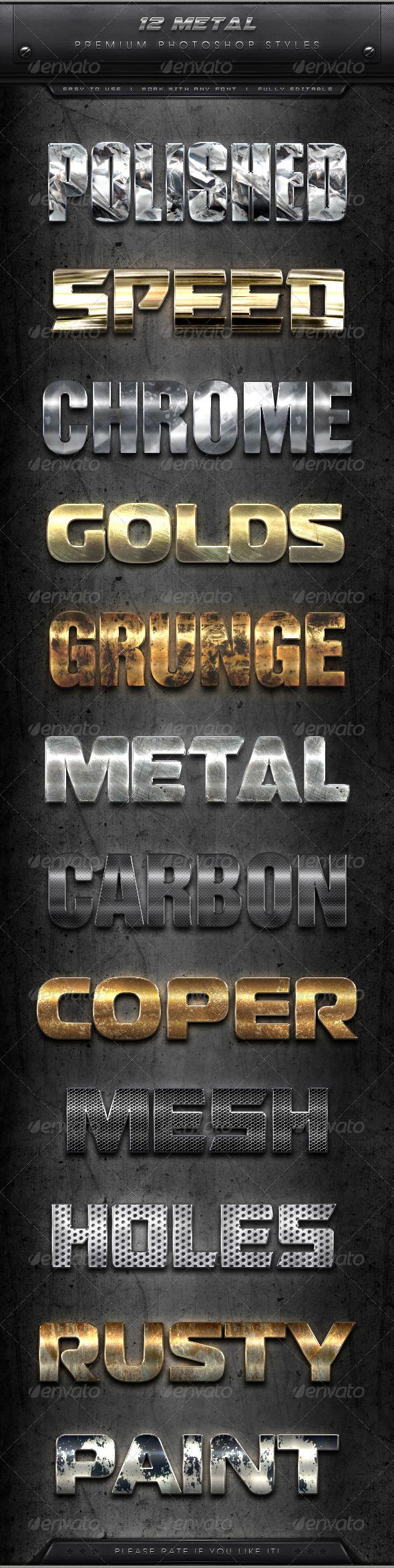 GraphicRiver 12 Premium Metal Styles 7950032