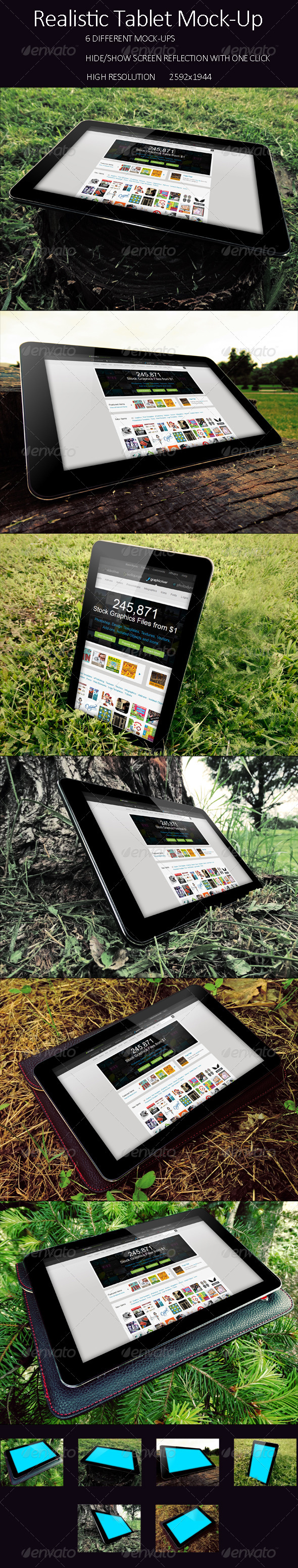 GraphicRiver PhotoRealistic Tablet In Nature Mock Up 7950089