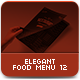 Elegant Food Menu 12 - GraphicRiver Item for Sale