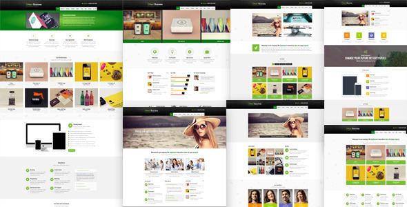 Green Business Wordpress CMS Template - Portfolio Creative