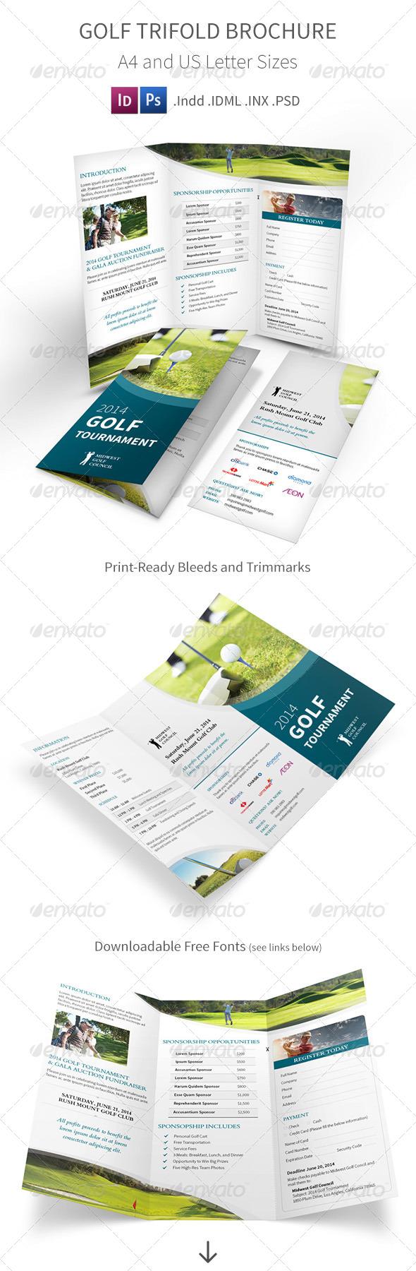 GraphicRiver Golf Tournament Trifold Brochure 7950835