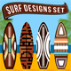 16 Surf Vector Designs Vol.2  - GraphicRiver Item for Sale