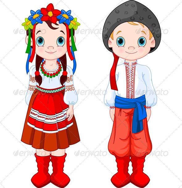 GraphicRiver Ukrainian Boy and Girl 7950968