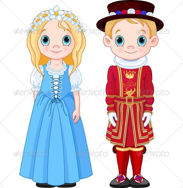GraphicRiver UK Boy and Girl 7950969
