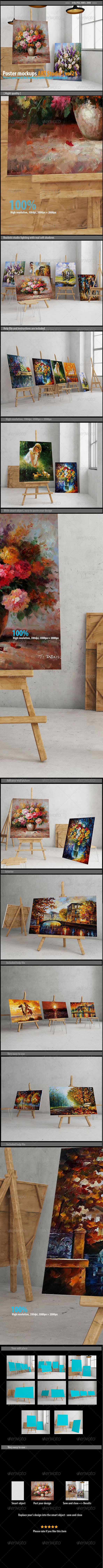 GraphicRiver Poster mockups ART Studio [vol2] 7951173