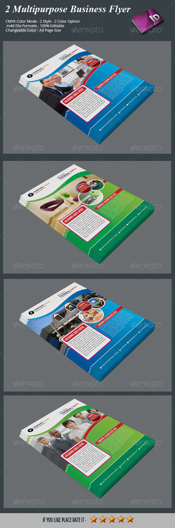 GraphicRiver 2 Multipurpose Business Flyer 7951201