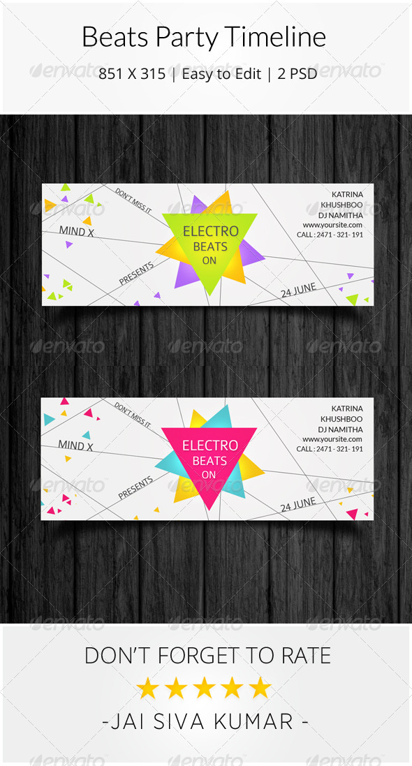GraphicRiver Beats Party Timeline 7951301
