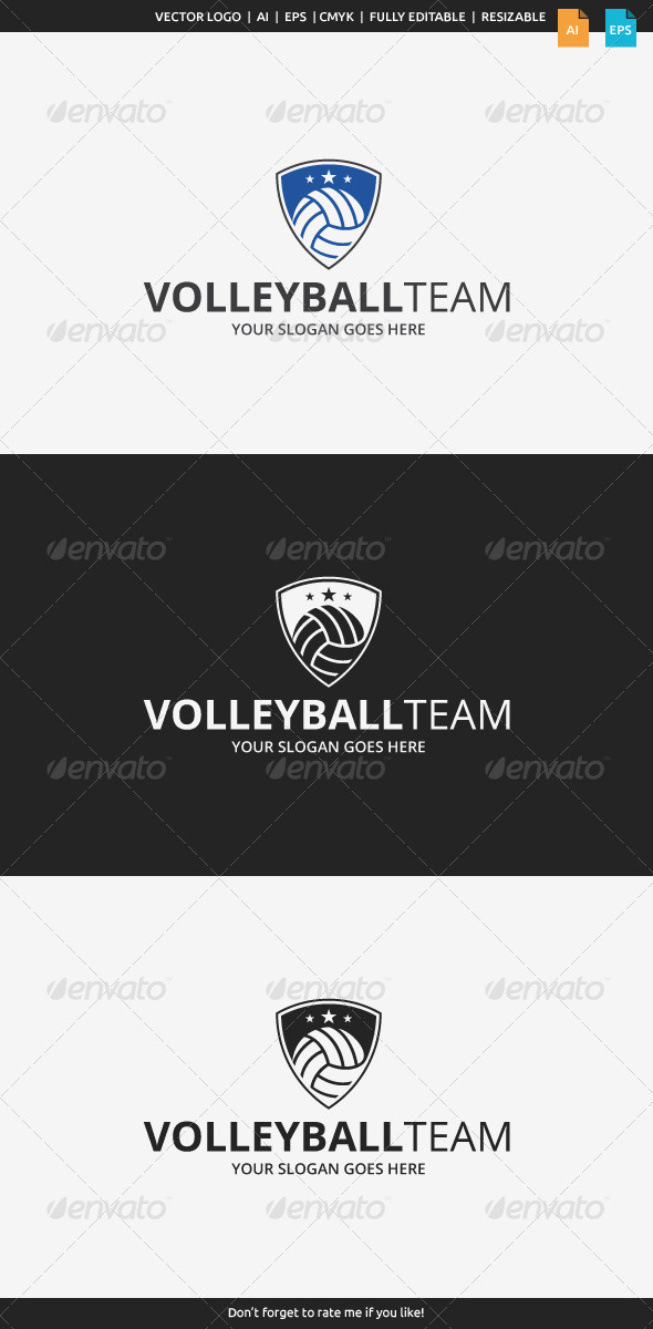 GraphicRiver Volleyball Team Logo 7951719