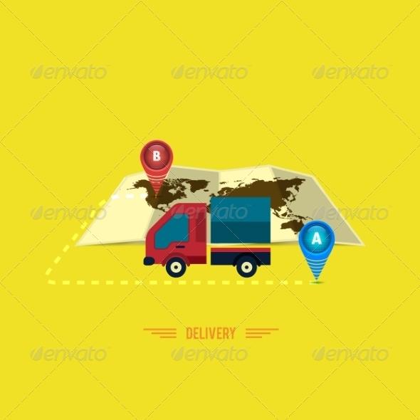 GraphicRiver Delivery Service Truck Symbol 7951732