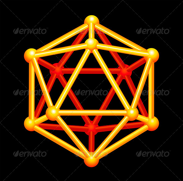 Icosahedron 3D Shape