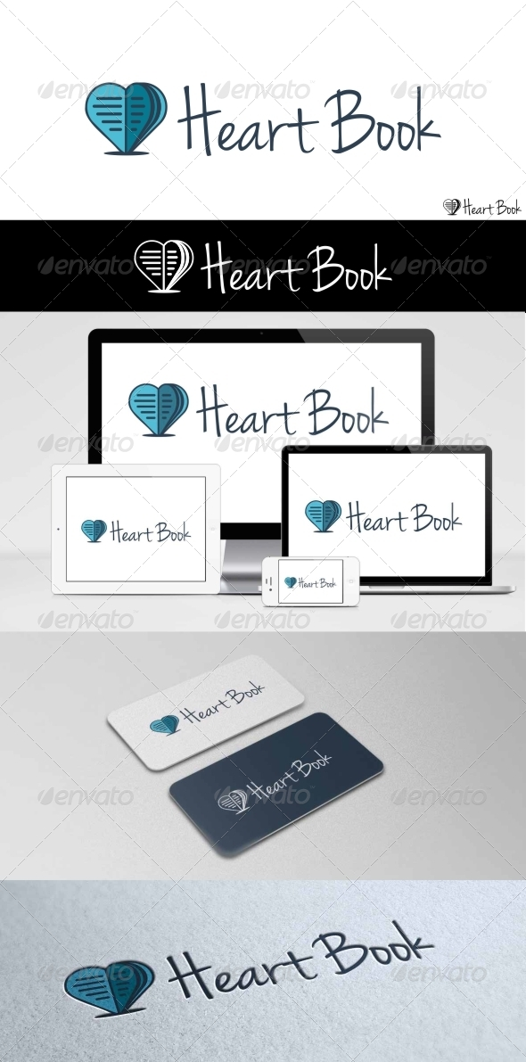 GraphicRiver Heart Book Logo 7952513