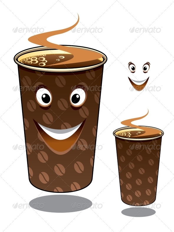 GraphicRiver Two cartoon takeaway coffees 7952819