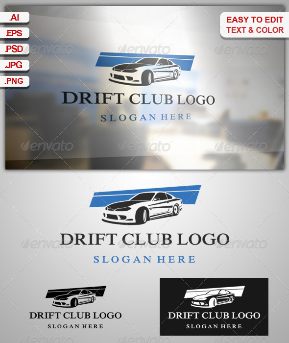 GraphicRiver Drift Club logo 7952905