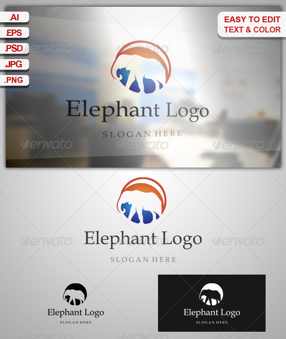 GraphicRiver Elephant Logo 7952934
