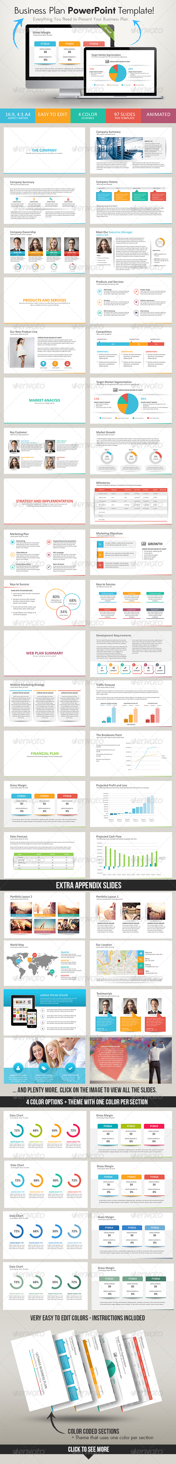 Ultimax Business Plan PowerPoint Template