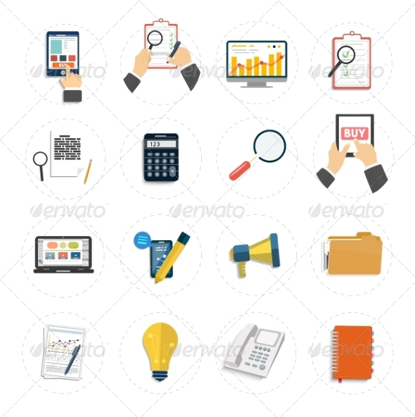 GraphicRiver Set of Various Business Concept Items 7953383