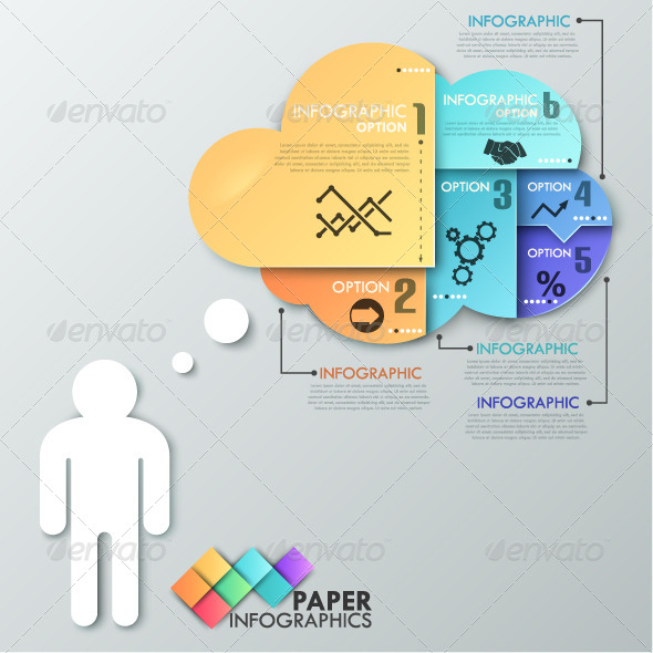 GraphicRiver Paper Infographic Template 7953392