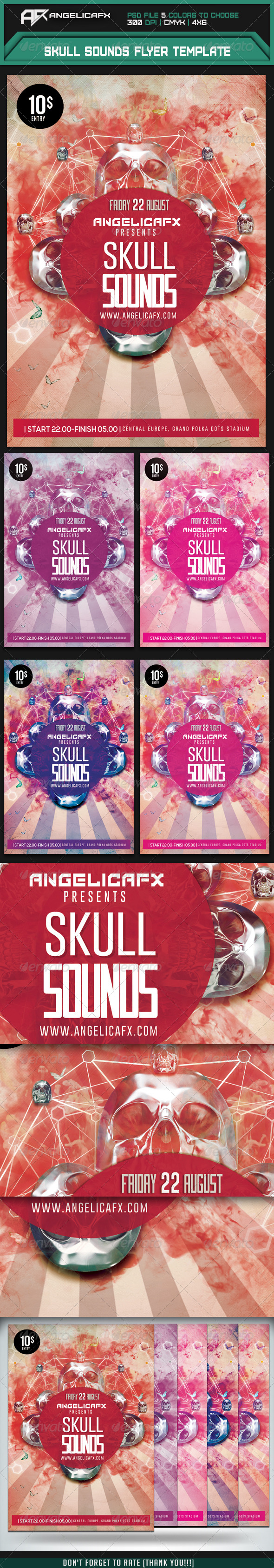 GraphicRiver Skull Sounds Flyer Template 7905001