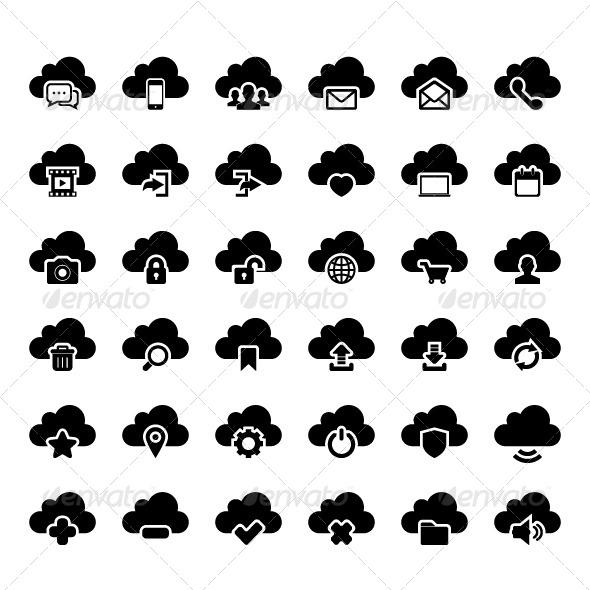GraphicRiver Cloud Icon 7954005
