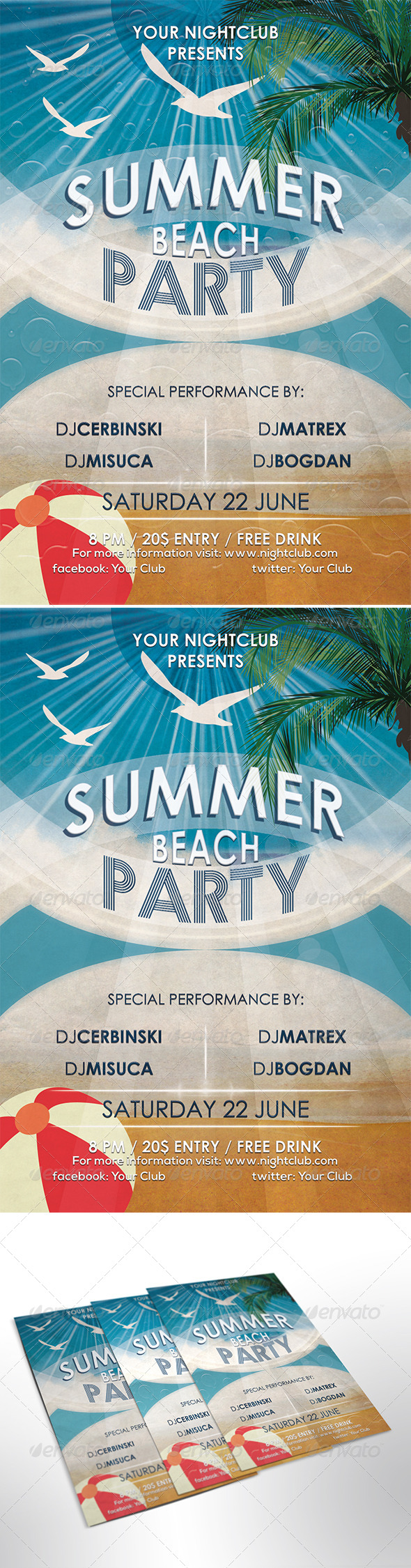 GraphicRiver Summer Beach Party 7930625