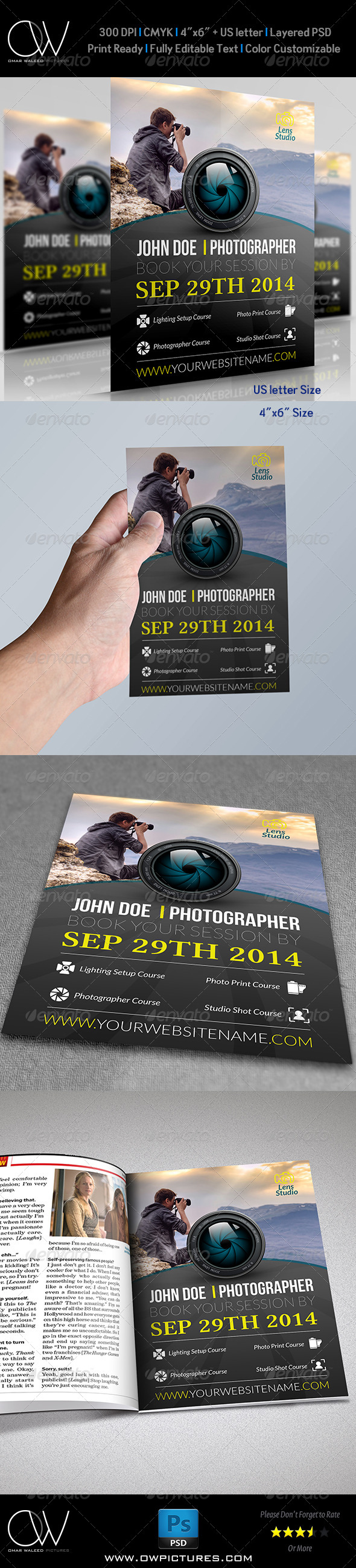GraphicRiver Photographer Flyer Template 7954180