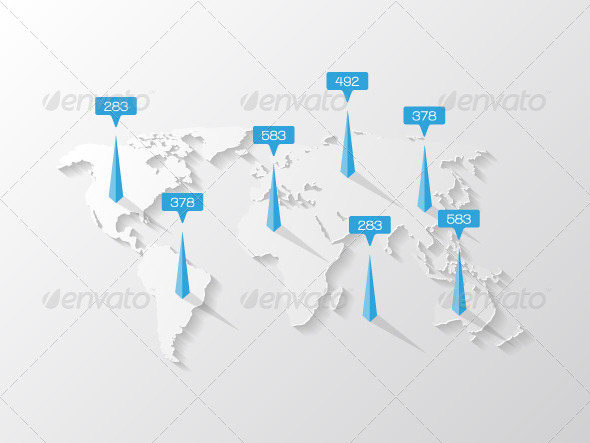 GraphicRiver World Map with Infographic Elements 7954188