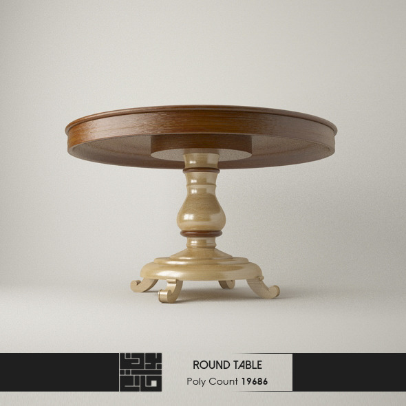 3DOcean Realistic Modern Round Table 7954220