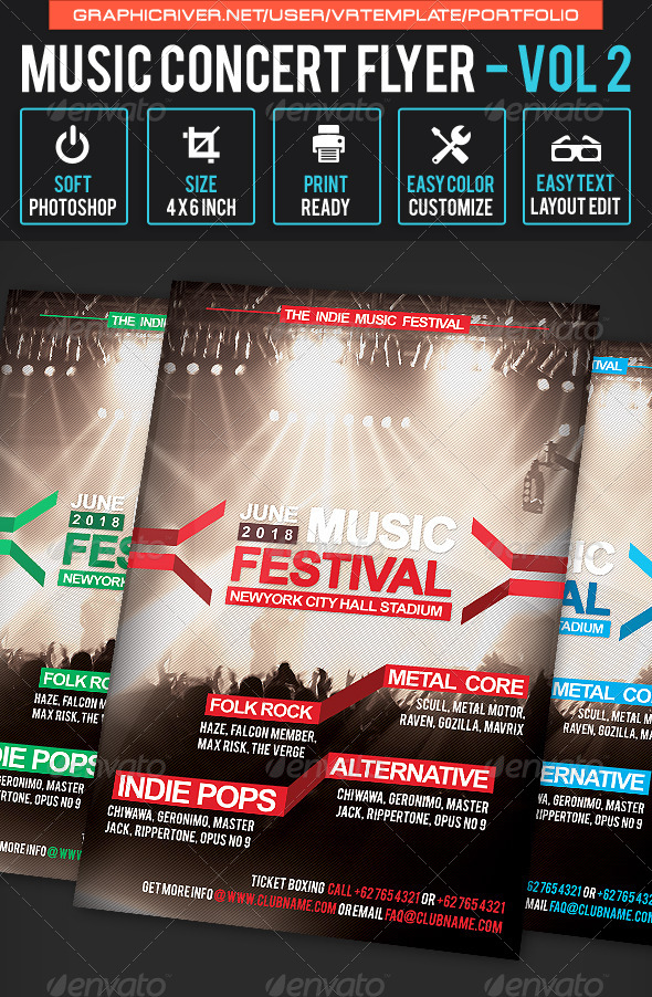 GraphicRiver Music Concert Flyer Volume 2 7954283