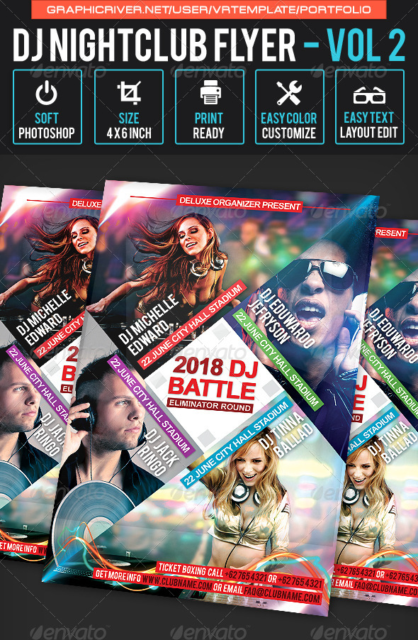 GraphicRiver DJ NightClub Flyer Volume 2 7954314