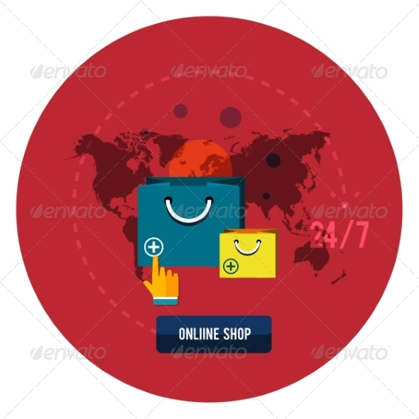 GraphicRiver Online Shopping Concept 7954320