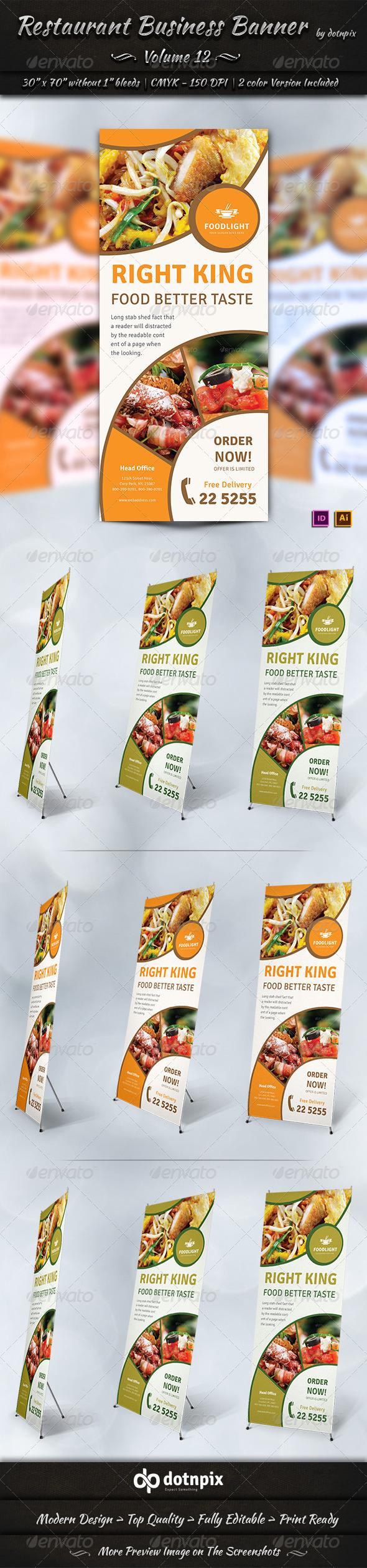 GraphicRiver Restaurant Business Banner Volume 12 7954326