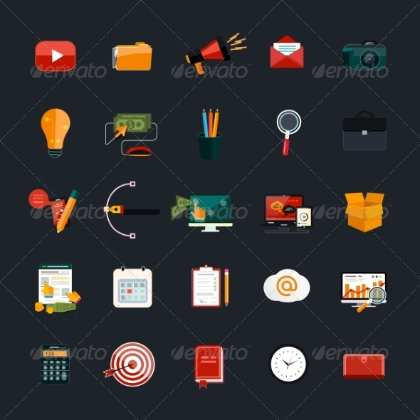 GraphicRiver Business and Marketing Icons 7954527