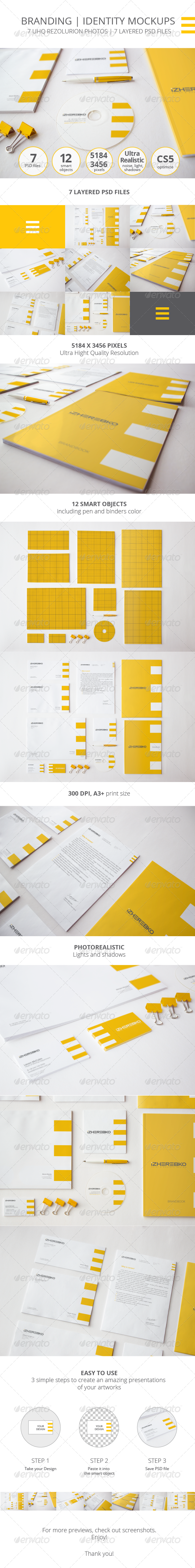 GraphicRiver Branding Identity Photorealistic Mock-up 7954551