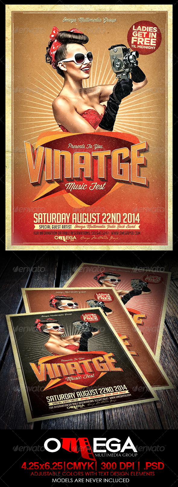 GraphicRiver Vintage Music Fest 7954549