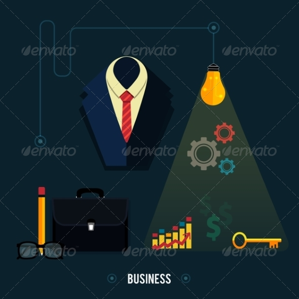GraphicRiver Icons for Business Concept 7954679