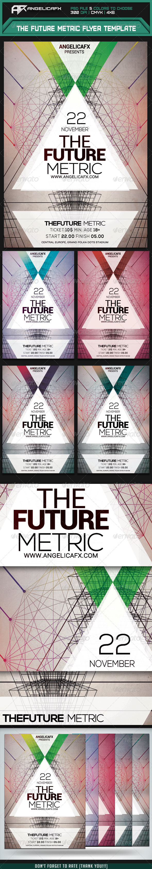 GraphicRiver The Future Metric Flyer Template 7955045
