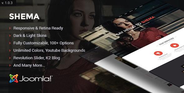 Shema - Creative One Page Joomla Template - Creative Joomla