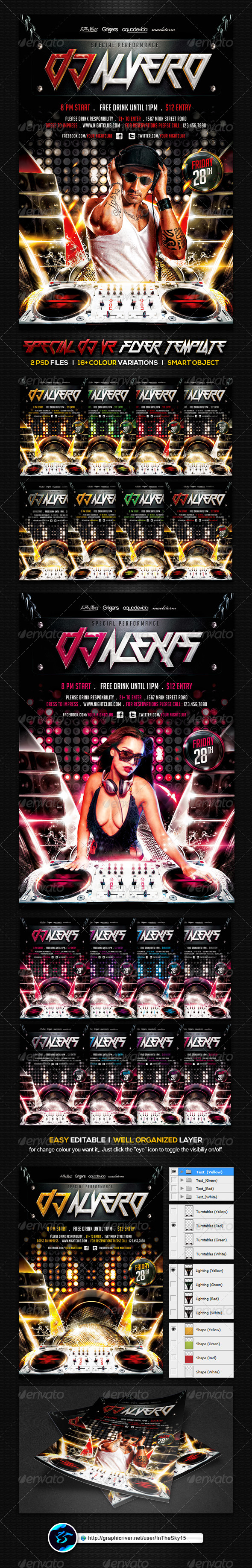 Special DJ V2 Flyer Template