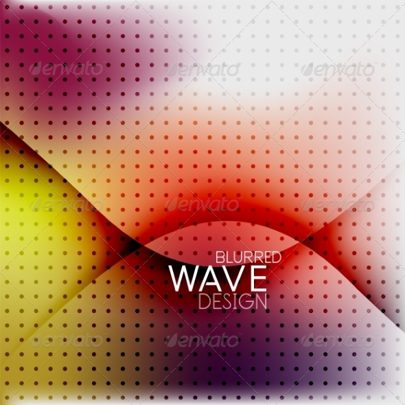 GraphicRiver Colorful Blurred Wave Business Background 7955130