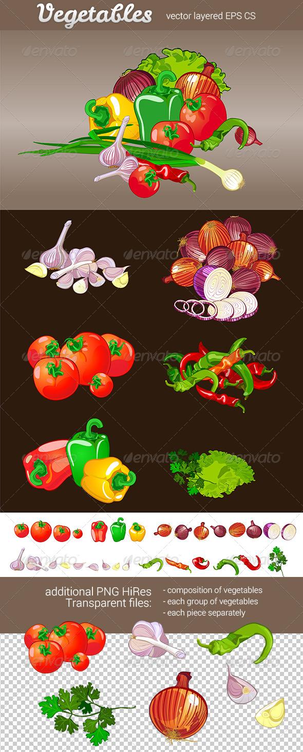 GraphicRiver Set of Vegetables 7955426