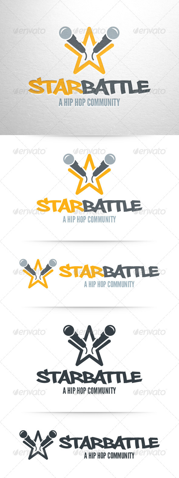 GraphicRiver Star Battle Logo Template 7955429