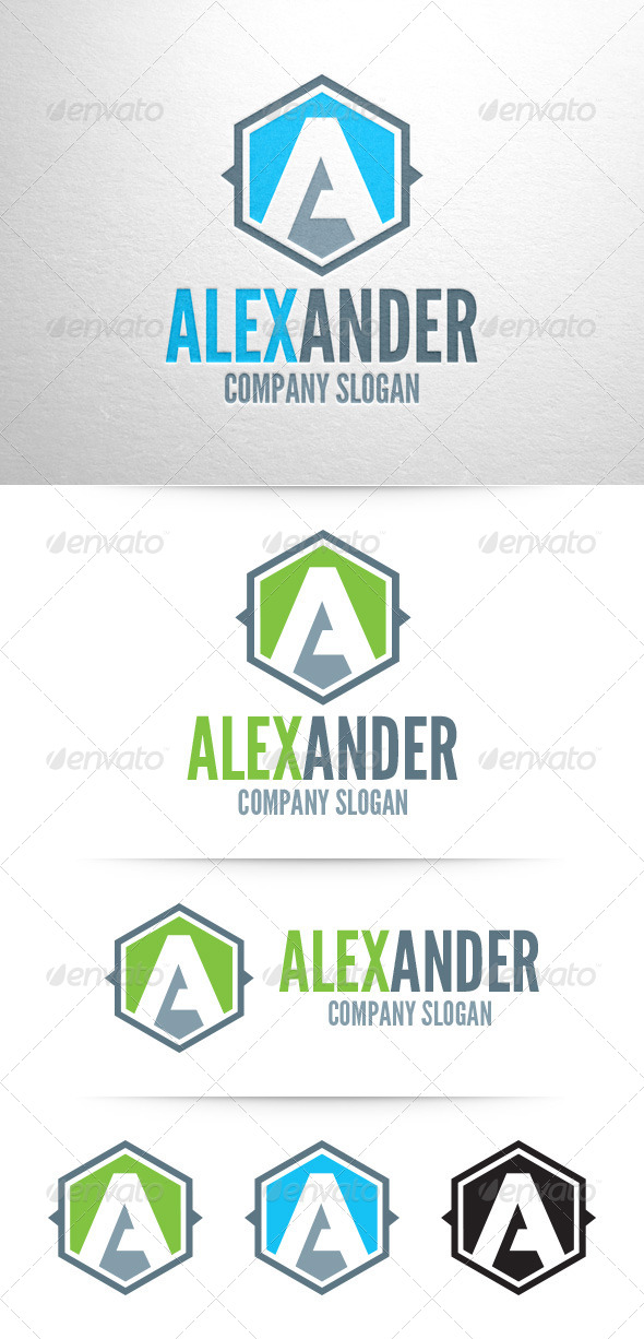 GraphicRiver Letter A Logo Template 7955430