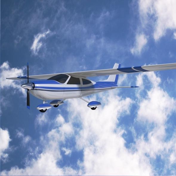 3DOcean Cessna Cardinal propeller airplane 7955465
