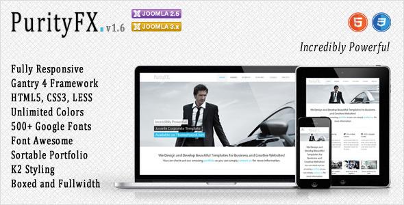 PurityFX - Corporate Joomla Template - Corporate Joomla