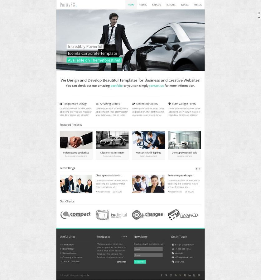 PurityFX - Corporate Joomla Template