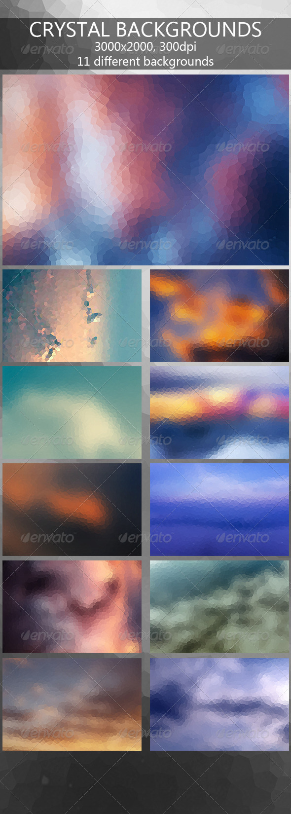 GraphicRiver Crystal Backgrounds 7955822