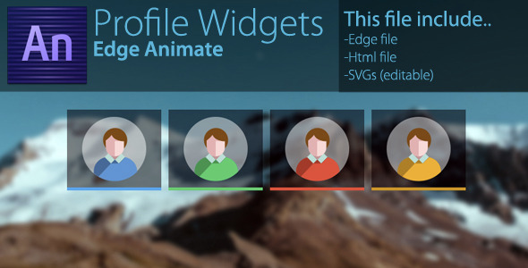 CodeCanyon Profile Widgets Edge Animate 7911155