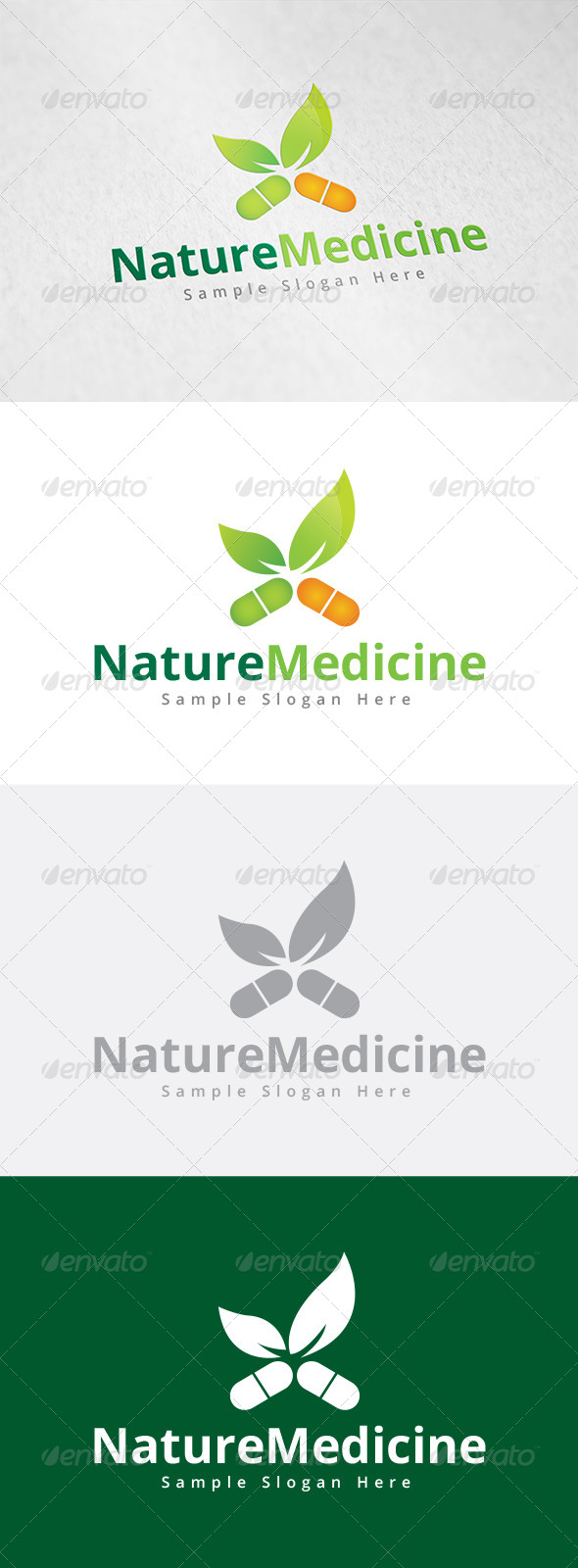 GraphicRiver Nature Medicine Logo 7956046