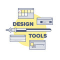Design tools and equipments illustration concept - PhotoDune Item for Sale